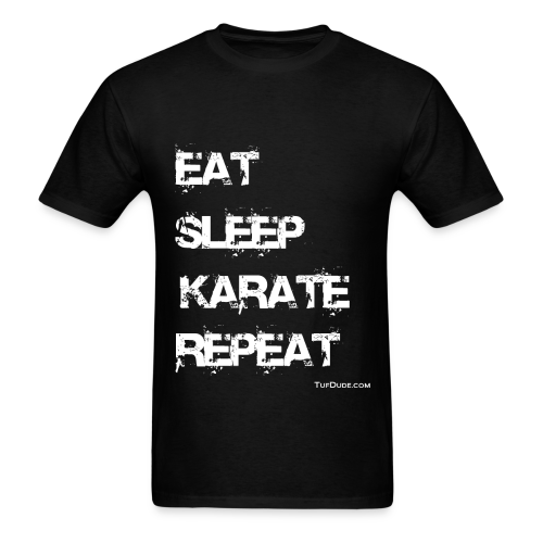 Eat Sleep Karate Repeat TD - Men's t-shirt - Men's T-Shirt