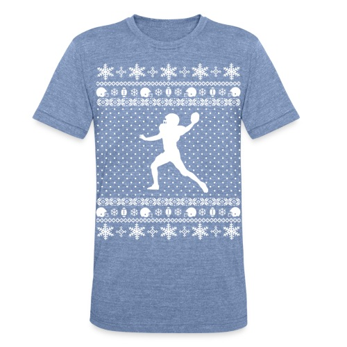 Ugly Football Xmas Sweater - Unisex Tri-Blend T-Shirt
