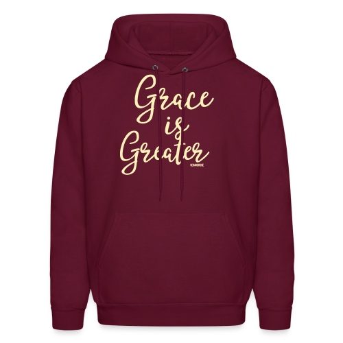 Grace is Greater Hoodie - Men's Hoodie