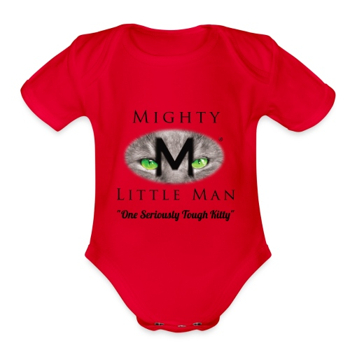 Mighty Little Man Jumper - Organic Short Sleeve Baby Bodysuit