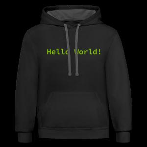 Hello World Hoodie - Contrast Hoodie