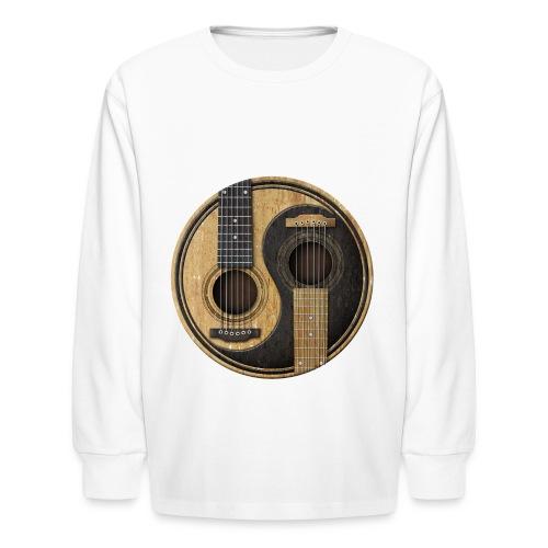 guitar yin yan  - Kids' Long Sleeve T-Shirt