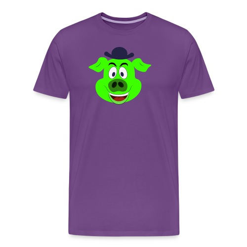 PW Pigpen logo wm.png - Men's Premium T-Shirt