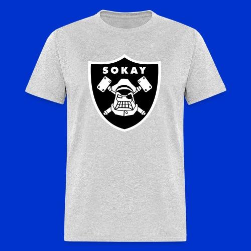Sokay x Raider shirt (grey) - Men's T-Shirt