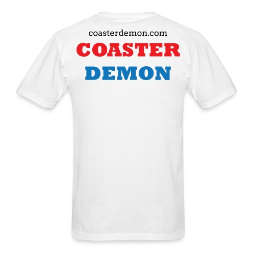 Coaster Demon Front and Back shirt - Men's T-Shirt