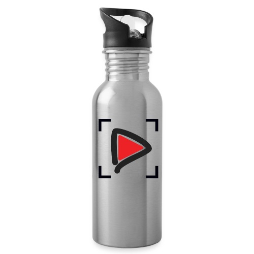 HowToMakeGoodVideos.com Play Button Water Bottle - Water Bottle