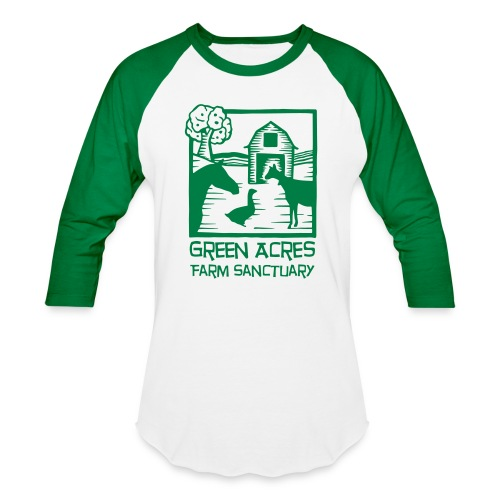 Adult Baseball Tee - Green Logo - Baseball T-Shirt