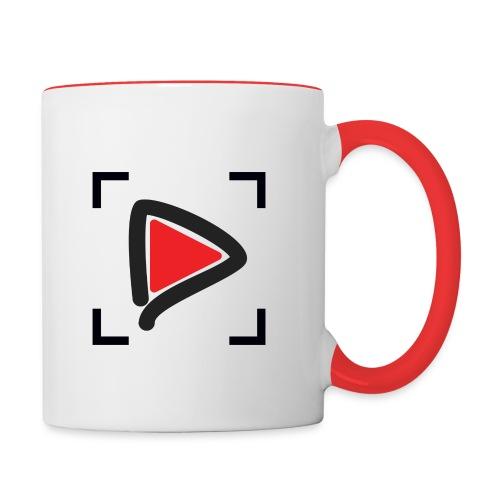 HowToMakeGoodVideos.com Play Button Mug - Contrast Coffee Mug