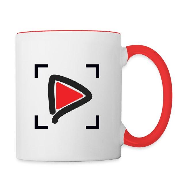 HowToMakeGoodVideos.com Play Button Mug