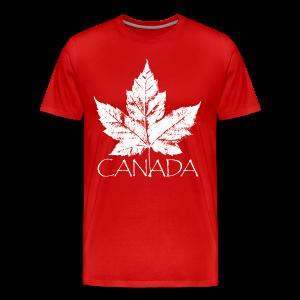Cool Canada Souvenir T-shirt Men's Retro Canada T-shirt - Men's Premium T-Shirt