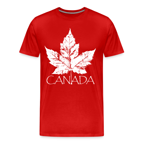 Cool Canada Souvenir T-shirt Men's Retro Canada T-shirt - Men's Premium T-Shirt