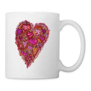 Retro 60's Heart mug - Coffee/Tea Mug