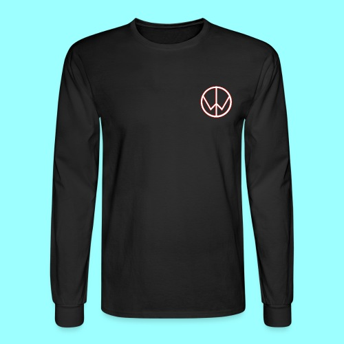 TheWizardTimGaming Long Sleeve with White Star Logo (Black) - Men's Long Sleeve T-Shirt