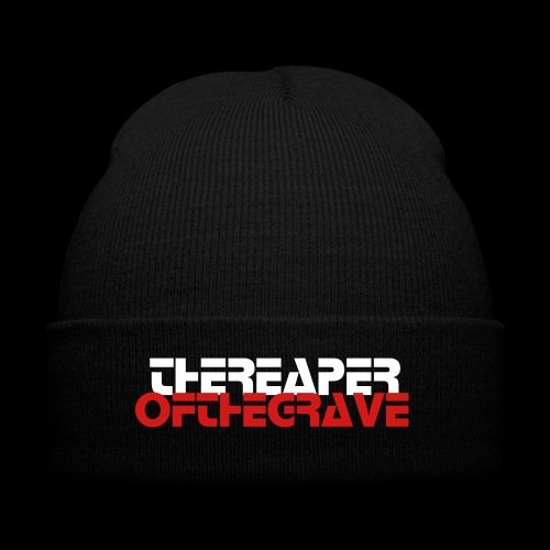 Thereaperofthegrave beanie  - Knit Cap with Cuff Print