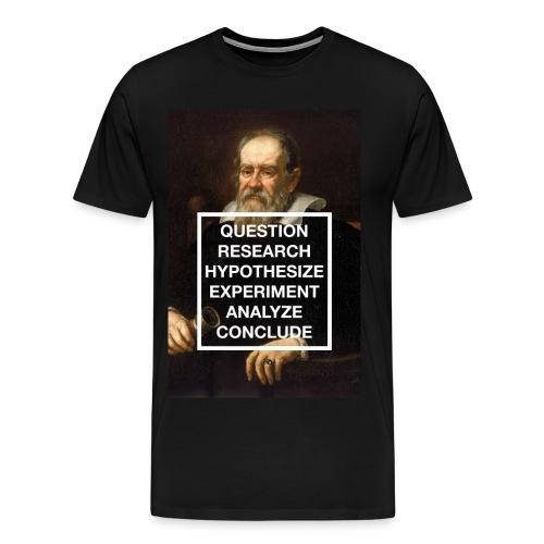 Great Minds: Galileo- Scientific Method  - Men's Premium T-Shirt