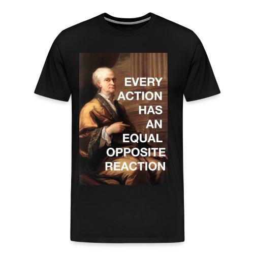 Great Minds: Newton- Third Law of Motion  - Men's Premium T-Shirt