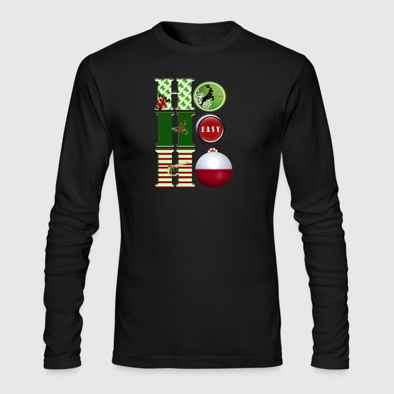 Fishing Ho Ho Ho2.png Long Sleeve Shirts - Men's Long Sleeve T-Shirt by Next Level