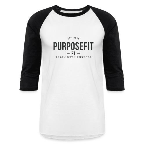 Women's Baseball Shirt - Black/White - Baseball T-Shirt