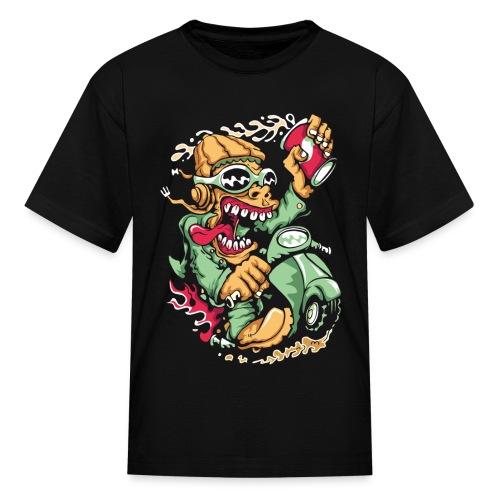 Crazy Biker Kids T-shirt - Kids' T-Shirt