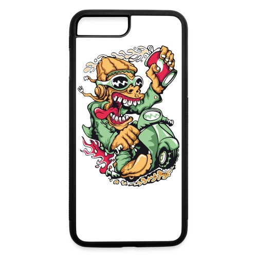 Crazy Biker iPhone 7 Plus Rubber Case - iPhone 7 Plus/8 Plus Rubber Case