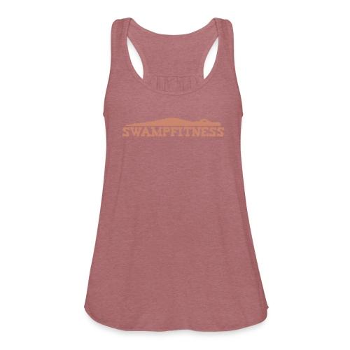 Swamp Fitness Womens Glitz Logo Tank - Women's Flowy Tank Top by Bella