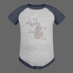 Michigan Word Map - Baby Contrast One Piece