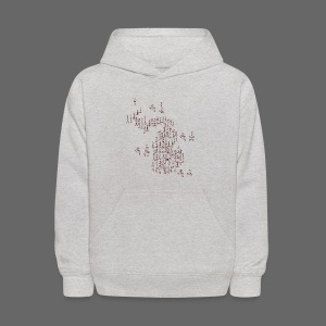 Michigan Word Map - Kids' Hoodie