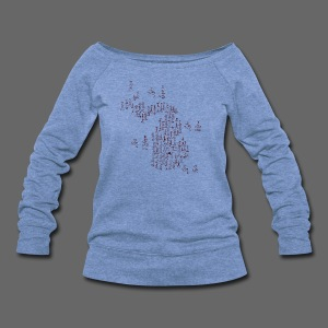 Michigan Word Map - Women's Wideneck Sweatshirt