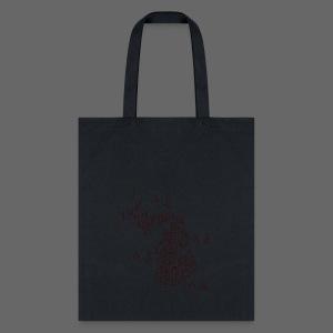 Michigan Word Map - Tote Bag