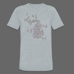 Michigan Word Map - Unisex Tri-Blend T-Shirt