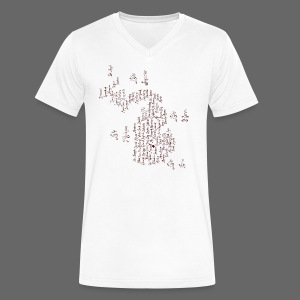 Michigan Word Map - Men's V-Neck T-Shirt by Canvas