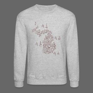 Michigan Word Map - Crewneck Sweatshirt
