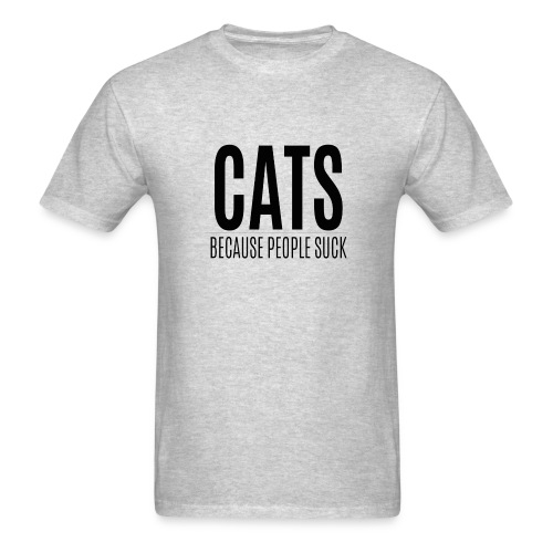 Cats because people suck (feeds 8 shelter cats) - Men's T-Shirt