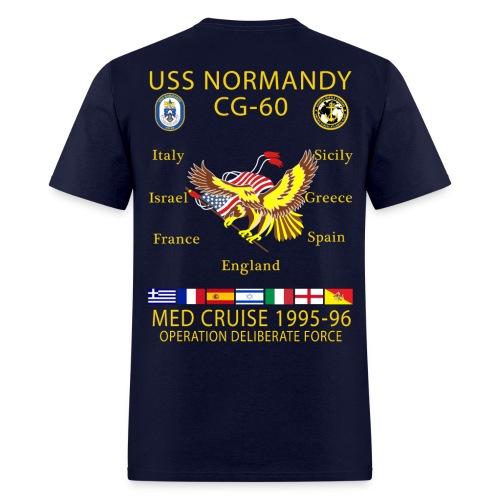 USS NORMANDY MED CRUISE 1995-96 T-SHIRT - Men's T-Shirt