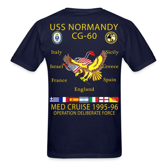 USS NORMANDY MED CRUISE 1995-96 T-SHIRT