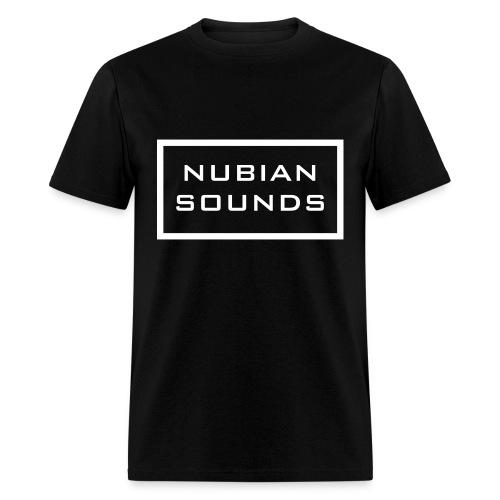 Nubian Sounds T-Shirt White Text - Mens - Men's T-Shirt
