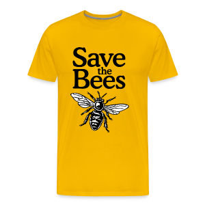 Save The Bees (bicolor) S-5X T-Shirt - Men's Premium T-Shirt