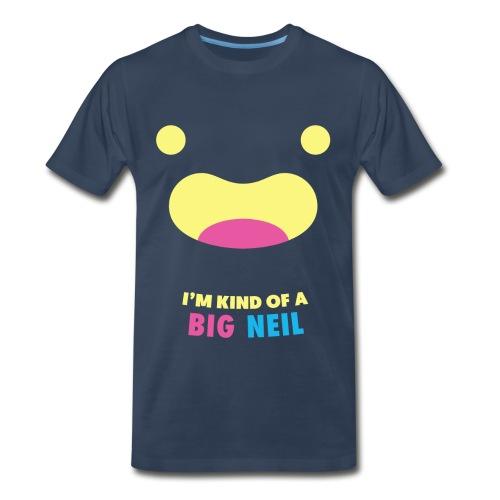 I'm kind of a big Neil - navy - Men's Premium T-Shirt