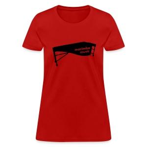 Marimba Music 2 outline T-Shirt (Women) - Women's T-Shirt