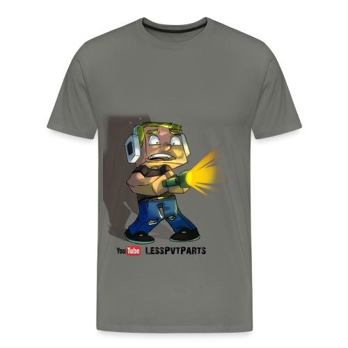 Mens Grey Scared Less - Men's Premium T-Shirt
