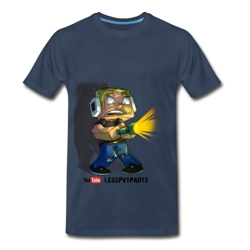 Mens Navy Scared Less - Men's Premium T-Shirt
