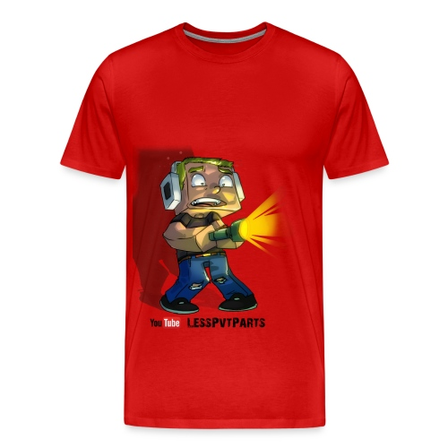 Mens Red Scared Less - Men's Premium T-Shirt