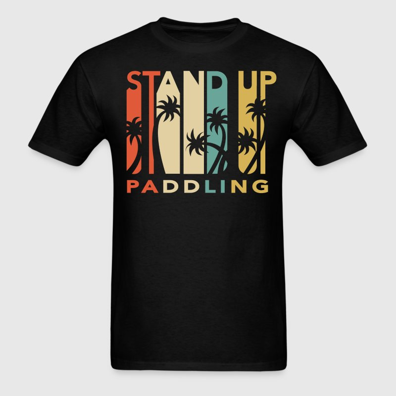Vintage Retro 1970's Style Stand Up Paddling - Men's T-Shirt