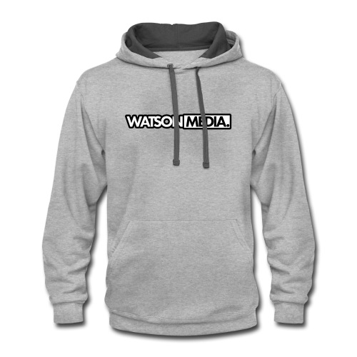 WatsonMedia Hoodie w/ black logos - Contrast Hoodie