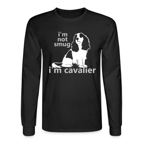 i'm not smug, i'm cavalier - Men's Long Sleeve T-Shirt