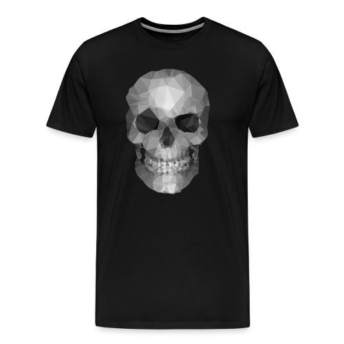 Polygons Skull - Men's Premium T-Shirt