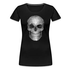 Polygons Skull - Women's Premium T-Shirt