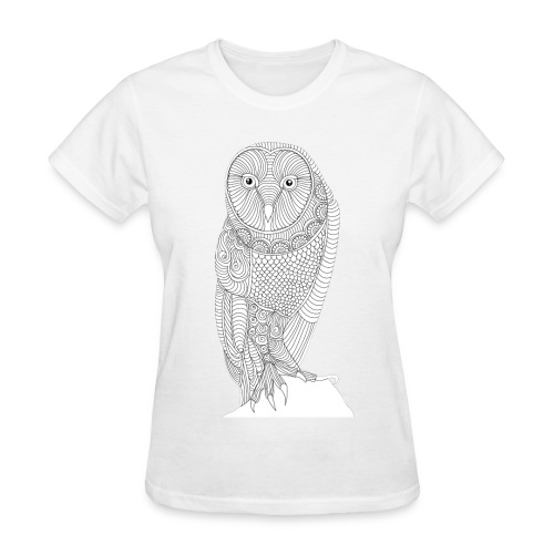 Owl Design T-Shirt (Womans) - Women's T-Shirt