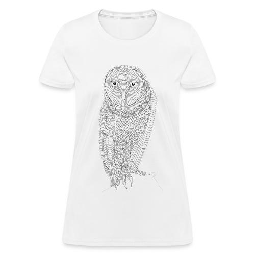 Owl Design T-Shirt (Womans) - Women's T-Shirt