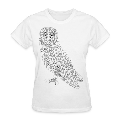 Owl Design T- Shirt (Womans) - Women's T-Shirt